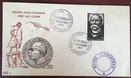 FDC. Premier Jour D'émission En L'honneur De Georges Clemenceau. 1951. - FDC
