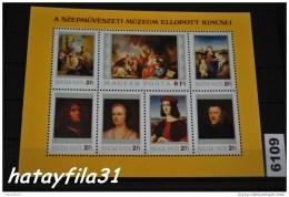 Ungarn  1984  Block 170 A  ** Postfrisch      /   Gestolene Und Wieder Gefundene Gemälde - Hojas Bloque