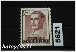 Österreich  1957   Mi. 1032   ** Postfrisch  /  100. Geburtstag Von Julius Wagner - Jauregg - 1945-60 Ungebraucht