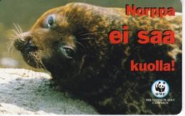 TARJETA DE FINLANDIA DE UNA FOCA  (SEAL-FOCA)  WWF - Finlandia