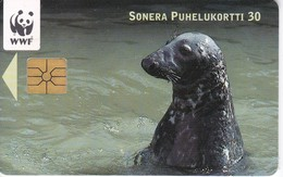 TARJETA DE FINLANDIA DE UNA FOCA  (SEAL-FOCA)  WWF - Finland