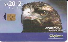 TARJETA DE PERU DE TELEFONICA 20 SOLES AGUILA TIRADA 50000 - Peru