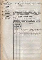VP12.689 - PARIS X MONTARGIS 1873 - Acte De La Cie Du Chemin De Fer D'ORLEANS à CHALONS Concernant La Commune D'AMILLY - Chemin De Fer