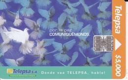 TARJETA DE COLOMBIA DE UNAS PALOMAS  (BIRD-PAJARO) - Pájaros