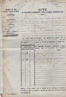 VP12.690 - PARIS X MONTARGIS 1874 - Acte De La Cie Du Chemin De Fer D'ORLEANS à CHALONS Concernant La Commune D'AMILLY - Chemin De Fer