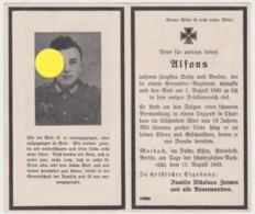 SOLDAT ALLEMAND GUERRE 40/45  Alfons Zerwes 1943 Wehrmacht - Unclassified