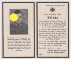 SOLDAT ALLEMAND GUERRE 40/45  Alfons Zerwes 1943 Wehrmacht - Announcements