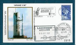 ESPACE - ARIANE Vol Du 1997/08 V98 - CNES - 3 Documents - FDC & Commémoratifs