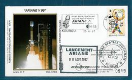 ESPACE - ARIANE Vol Du 1997/06 V96 - CNES - 3 Documents - FDC & Commémoratifs