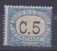 SAN MARINO 1925 SEGNATASSE COLORI NEI RIQUADRI CAMBIATI SASS. 19 MNH XF - Segnatasse