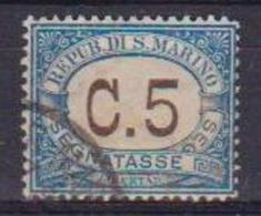 SAN MARINO 1925 SEGNATASSE COLORI NEI RIQUADRI CAMBIATI SASS. 19 USATO VF - Segnatasse