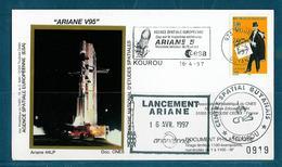 ESPACE - ARIANE Vol Du 1997/04 V95 - CNES - 4 Documents - FDC & Commémoratifs