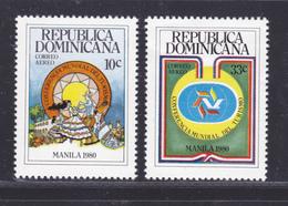 DOMINICAINE AERIENS N°  358 & 359 ** MNH Neufs Sans Charnière, TB  (D7426) Conférence Mondiale Du Tourisme - Dominicaine (République)