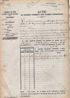 VP12.695 - PARIS X MONTARGIS 1875 - Acte De La Cie Du Chemin De Fer D'ORLEANS à CHALONS Concernant La Commune D'AMILLY - Chemin De Fer
