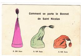 CPA- Comment Se Porte Le Bonnet De Saint Nicolas -2scans - Saint-Nicholas Day