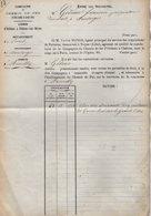 VP12.696 - PARIS X MONTARGIS 1875 - Acte De La Cie Du Chemin De Fer D'ORLEANS à CHALONS Concernant La Commune D'AMILLY - Chemin De Fer