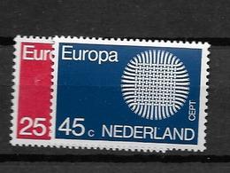 1970 MNH Netherlands, NVPH 971-2 Postfris - 1949-1980 (Juliana)