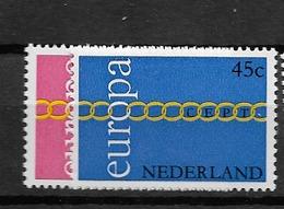 1971 MNH Netherlands, NVPH 990-91 Postfris - Ungebraucht