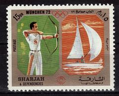SHARJAH   N°   * *       Jo  1972    Tir A L Arc Voile - Bogenschiessen