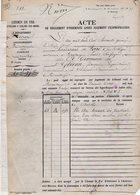 VP12.697 - PARIS X MONTARGIS 1875 - Acte De La Cie Du Chemin De Fer D'ORLEANS à CHALONS Concernant La Commune D'AMILLY - Chemin De Fer