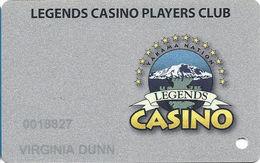 Legends Casino - Toppenish WA - Slot Card - Casino Cards