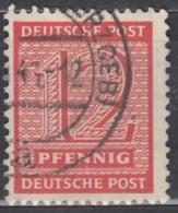 SBZ West-Sachsen 132 X I, Gestempelt - Zona Sovietica