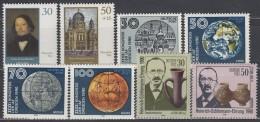 DDR 3358-3365, Postfrisch **, Synagoge Berlin, IAF-Kongress, Heinrich Schliemann 1990 - Unused Stamps