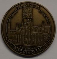 3193 Vz Brugge - Grote Markt - Het Provinciaal Hof 100 Brugghe - Kz Oppidi Sigillum Brugensis - Tokens Of Communes