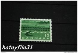 """Dänemark    1963  Mi. 413 X ** Postfrisch  /   Einweihung Der """""""" Vogelfluglinie """""""" Der Kürzesten Verbindung Zwischen - Dänemark"""