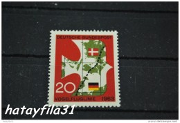 """Deutschland    1963  Mi. 399 ** Postfrisch  /   Einweihung Der """""""" Vogelfluglinie """""""" Der Kürzesten Verbindung Zwischen - Europäischer Gedanke"""