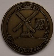 3196 Vz Brugge - Sint-Janshuismolen 100 Huismolen - Kz Oppidi Sigillum Brugensis - Tokens Of Communes