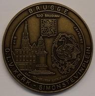 3198 Vz Brugge - O.L.V. Kerk -Simon Stevinplein 100 Brugiam - Kz Oppidi Sigillum Brugensis - Jetons De Communes