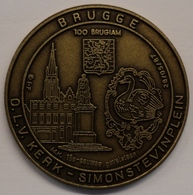 3198 Vz Brugge - O.L.V. Kerk -Simon Stevinplein 100 Brugiam - Kz Oppidi Sigillum Brugensis - Tokens Of Communes
