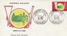 DEFENSE DE LA FORET  FDC 1971 - Madagascar (1960-...)