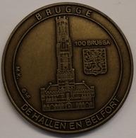 3200 Vz Brugge - De Hallen En Belfort 100 Brugga - Kz Oppidi Sigillum Brugensis - Jetons De Communes