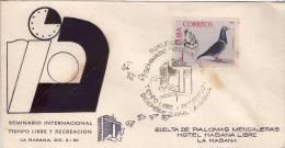 Lote SC318, Cuba, 1966, Sobre, Cover, Palomas Mensajeras, Carrier Pigeon - Sellos