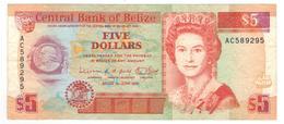 Belize 5 Dollars 1991, VF. - Belize