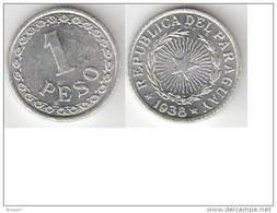Paraguay 1 Peso 1938 Km 16 Unc - Paraguay