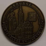 3205 Vz Brugge - Poortersloge En Jan Van Eyck 15de Eeuw 100 Eyck - Kz Oppidi Sigillum Brugensis - Jetons De Communes