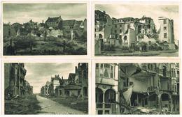 Lot 8 AK Middelkerke - Westende - Mannekensvere, 1. Weltkrieg, Zerstörungen 1916 - Middelkerke