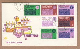 Australia Royal  FDC Christmas 1971 - Block Of 7  C/V $60 - FDC