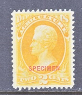 U.S.  O 25  * SPECIMEN - Nachdrucke & Specimen