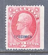 U.S.  O 115  *    SPECIMEN - Proofs, Essays & Specimens