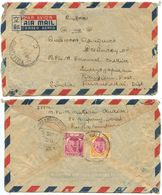 Malaya - Selangor 1951 Airmail Cover Kuala Lumpur To Rangiem, India W/ Scott 86 & 89 - Selangor