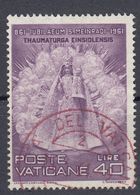 VATICANO - 1961 - Yvert 317 Usato, Come Da Immagine. - Oblitérés