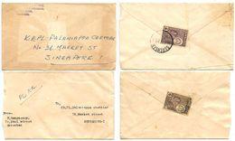 Malaya - Negri 1960's 2 Covers Sembilan To Singapore W/ Scott 69 - Negri Sembilan