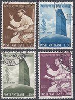 VATICANO - 1965 - Serie Completa Usata: Yvert 434/437, 4 Valori, Come Da Immagine. - Oblitérés