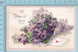 CPA Voyagé 1911 - A Token Of Love , Raphael Tuck, Theme: Valentine Series Floral Missives - Stamp CND #89 - Tuck, Raphael