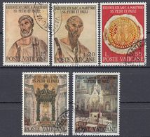 VATICANO - 1967 - Serie Completa Usata: Yvert 466/470, 5 Valori, Come Da Immagine. - Oblitérés