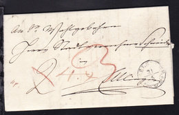 Karlsruhe 1835 K2 CARLSRUHE (GB)31.5. Auf Brief Nach Ettlingen - Allemagne